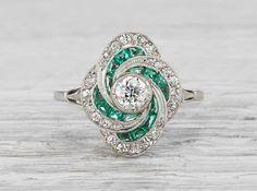 .35 Carat Art Deco Vintage Engagement Ring || Erstwhile