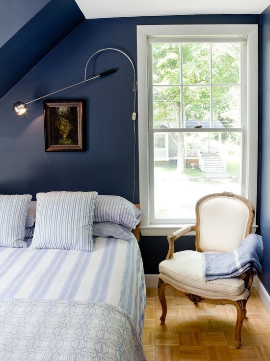 Grey and navy bedroom design pictures remodel decor and for Denim bedroom ideas
