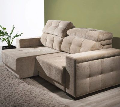 sofa retratil com encosto reclinavel grande