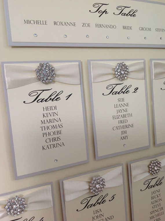 Luxury Wedding Table Seating Plan by ChosenTouches on Etsy, u00a339.99