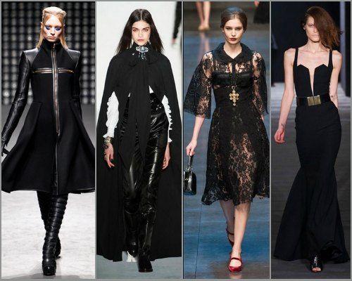 Элементы стиля готика в одежде