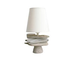 Lampada da tavolo in legno e tessuto De Kerq - h32 cm