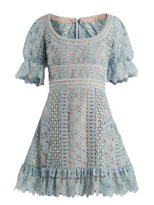 9eb80e6061a Floral-lace mini dress