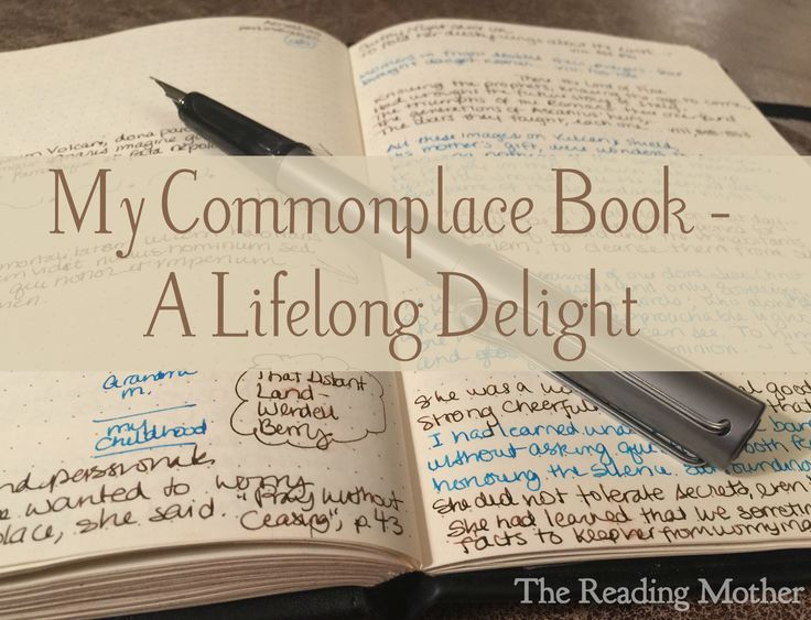 My Commonplace Book - A Lifelong Delight | thereadingmother.net