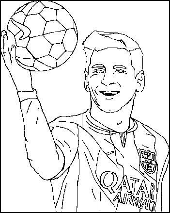 lionel messi poster coloring and activity page sport
