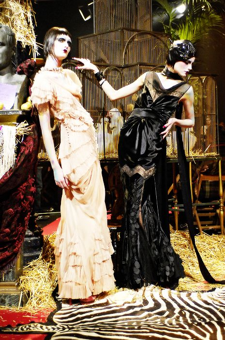 John Galliano Fall 2007 -- Love the Dress on the Left.