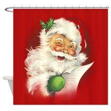 Santa Vintage Shower Curtain for