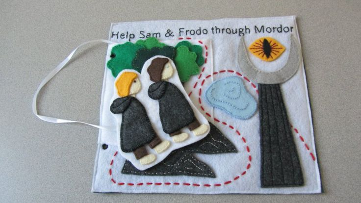 This book tells the story quietly, hence the name, with little felt figures, felt pages and even lets your kids dress up Aragorn for adventure.