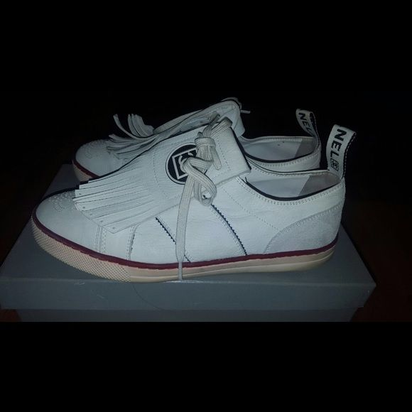 More pictures  CHANNEL tennis shoes  Authentic CHANEL tennis shoes  authentic Get this spectacular tennis shoes  it comes with the box and dust bag. Front part with fringes could easily be removed and reversible the  size is 40.5. But it fits a 39.5 CHANEL Shoes Espadrilles