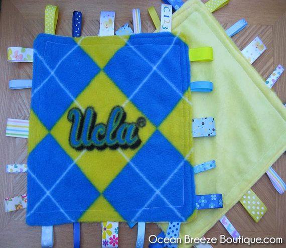 UCLA  Bruins Minky Taggy BlanketLoveyTag by oceanbreezeboutique, $10.00: Minis Ribbons, Minki Minis, Minis Dog Qu, Bruins Minki, Taggi Blanketloveytag, Ribbons Blankets, Minki Taggi, 1000, Ucla Bruins