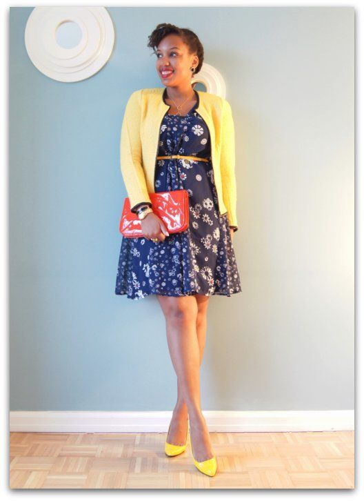 Jason Wu for Target Dress, Zara Blazer, Forever 21 Clutch, Street Vendor Necklace, Guess Shoes