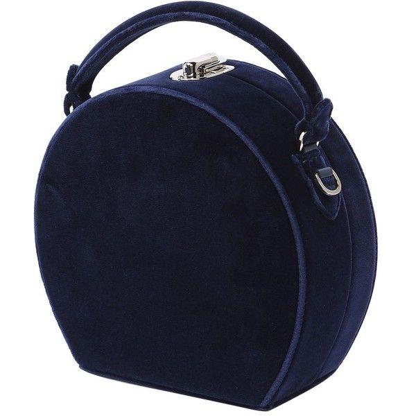 Bertoni 1949 Women Bertoncina Velvet Top Handle Bag ($1,255) ❤ liked on Polyvore featuring bags, handbags, blue, lock bag, velvet handbags, blue handbags, handle bag and velvet purse