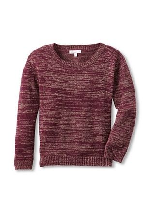 62% OFF Moon Et Miel Girl's Elodie Sweater (Burgundy With Lurex)