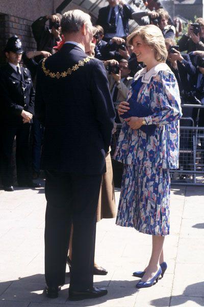 Lady Diana enceinte de 4 mois du prince Harry en mai 1984