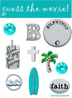 Origami Owl Name That Movie! game. Answer: Soul Surfer. Follow CINDY CAZARES on FB! https://www.facebook.com/hellociindycharms