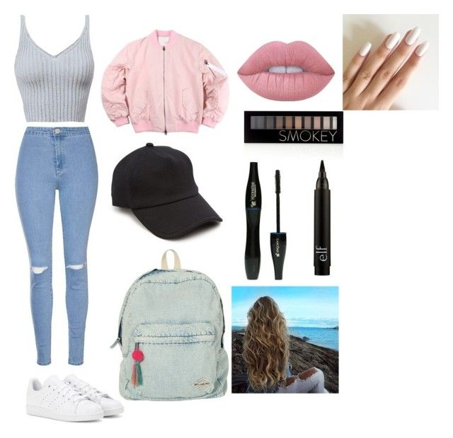 School outfit for teens   Untitled #15 by gkpc0208 on Polyvore featuring polyvore, fashion, style, Glamorous, adidas, Billabong, rag & bone, Lime Crime, Forever 21, Lancôme and clothing