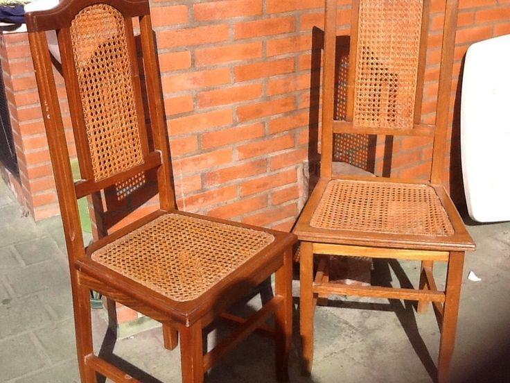 Juego comedor roble antiguo mesa y seis sillas mercado for Sillas comedor antiguas