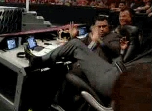 Taint what I expected    #wrestling #wwe #raw #john #laurinaitis #gif