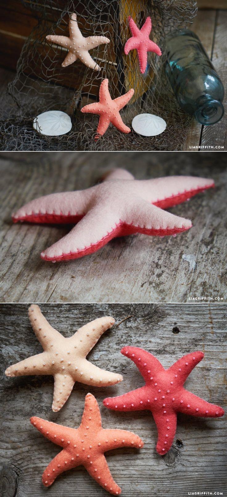 Starfish poem card - Felt Starfish Stuffies