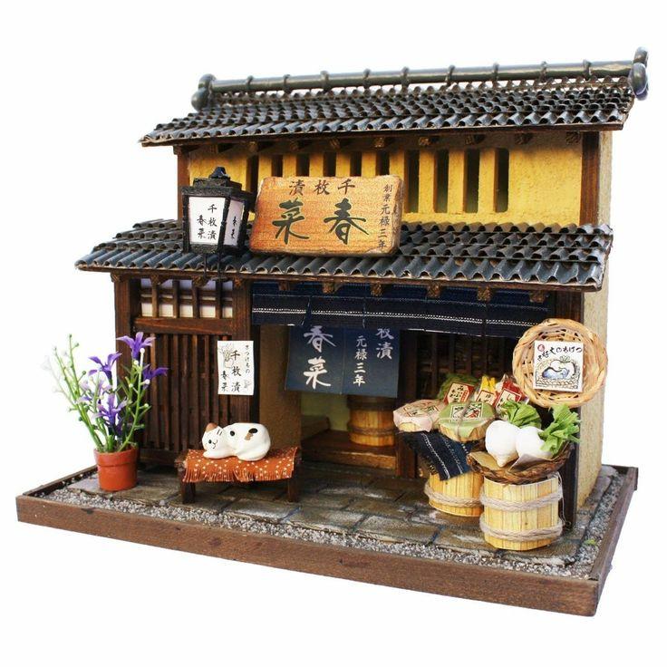 Miniature Love......Japanese Doll House Nostalgic Miniature Model L Sweets Shop Kawagoe Handmade | eBay