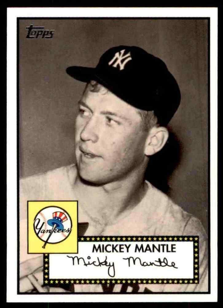 2007 Topps Baseball Mickey Mantle New York Yankees 15 Insert Newyorkyankees In 2020 Mickey Mantle Baseball Mantle