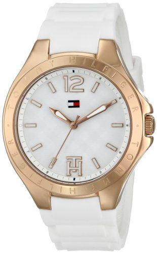 Tommy Hilfiger Womens 1781383 AnalogDisplay Watch with RoseGold Bezel -- Click image for more details.