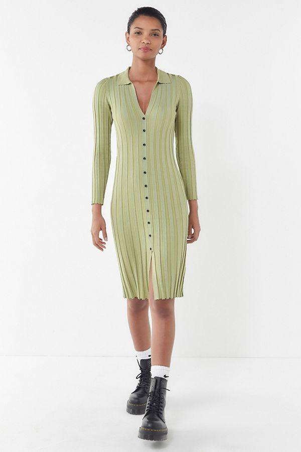Uo Alta Button Down Sweater Dress Shop Dresses Urban Dresses