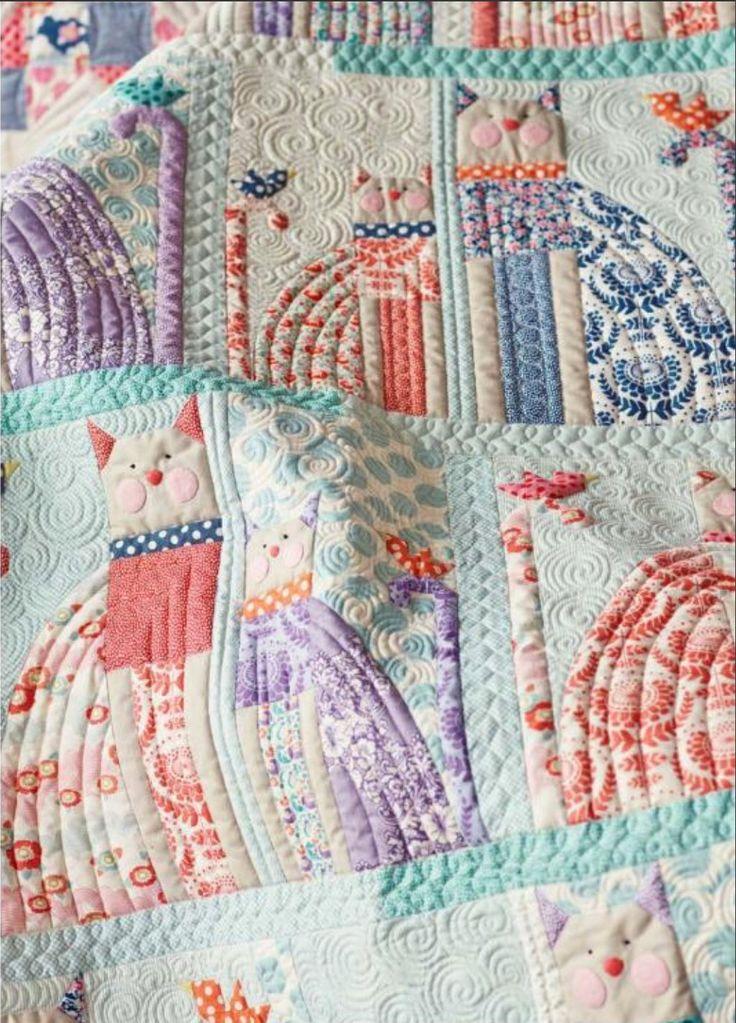 Tilda Lazy Days Cat Amp Bird Quilt And Pillow Kit 52 1 2