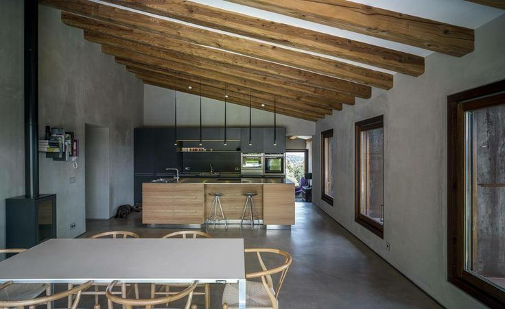 Holzbalken Decke Interieur Modern. versteckte led ...