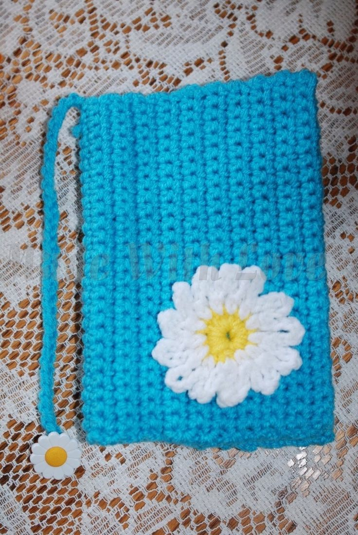 """This Tutorial """"Glama's Crocheted Daisy Book Cover Lesson For Beginners"""", was made because Many People have asked me for this Pattern, I dont really know How .."""