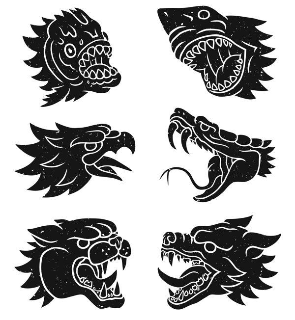 Scalped Animals by Marc Schönn, via Behance