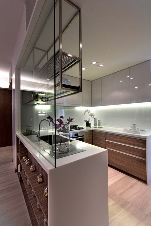 Illustrated ceiling/wall hung steel kitchen shelving.