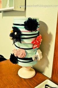 DIY: Frugal Headband Holder From an Oatmeal Canister