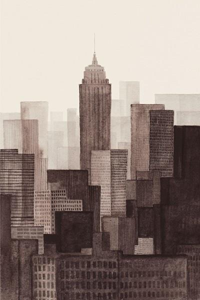 cityscape watercolour