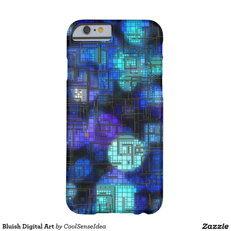 Bluish Digital Art Barely There iPhone 6 Case