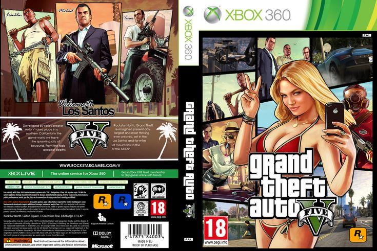 gta 5 | ... de capas para filmes e jogos: Capa Grand Theft Auto V (GTA 5) Xbox 360