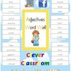 FREE - Adjectives Word Wall - 200 words - PDF file40 pages plus cover page and how to use page designed by Clever Classroom.In your list you wi...