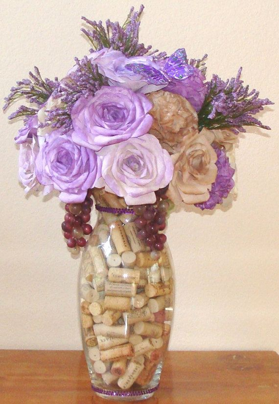 Hey, I found this really awesome Etsy listing at https://www.etsy.com/listing/167623853/wine-themed-floral-arrangement-fake