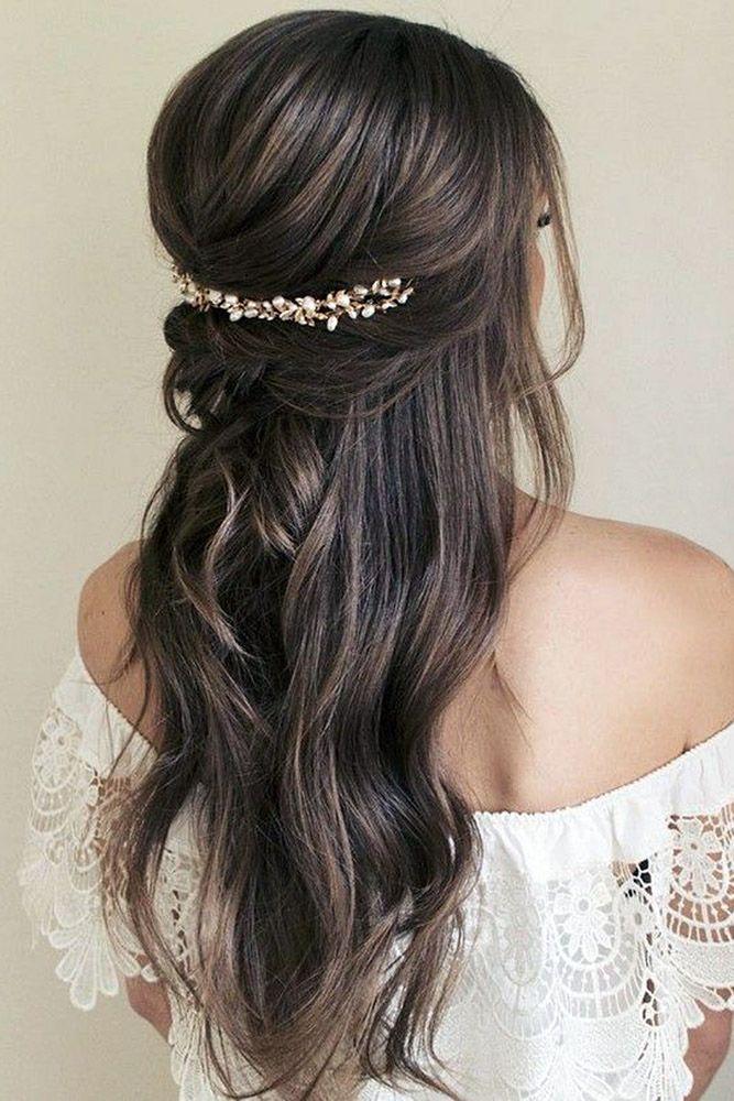 39 Best Pinterest Wedding Hairstyles Ideas Wedding Forward Hair Styles Wedding Hair Half Down Hairstyles For Long Hair