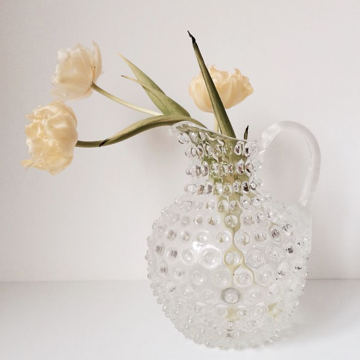 Our favorite vase with a simple tulip!