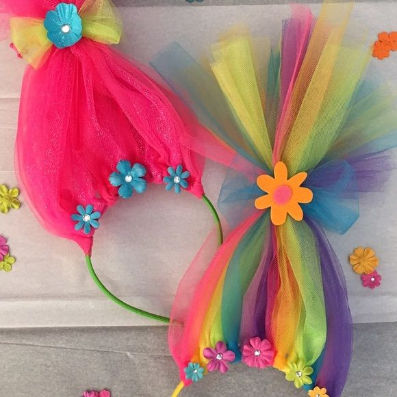 Accessories - Neon Rainbow Troll Hair Headband