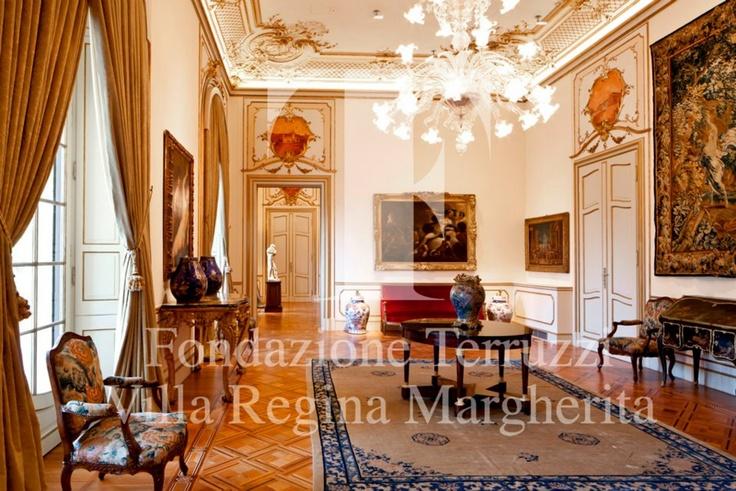 La Sala di Ritrovo  ©Fondazione Anna Fiamma Terruzzi   Foto di Matteo Carassale #FondazioneTerruzziVillaReginaMargherita #Museo #Bordighera