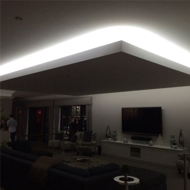 Led Strip Lighting in lounge