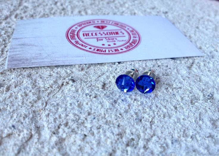 #swarovski #acccessoriesforstars #earrings #auroreboreale #crystals #shine #precious #blue #sapphire #royal #royalblue #capriblue