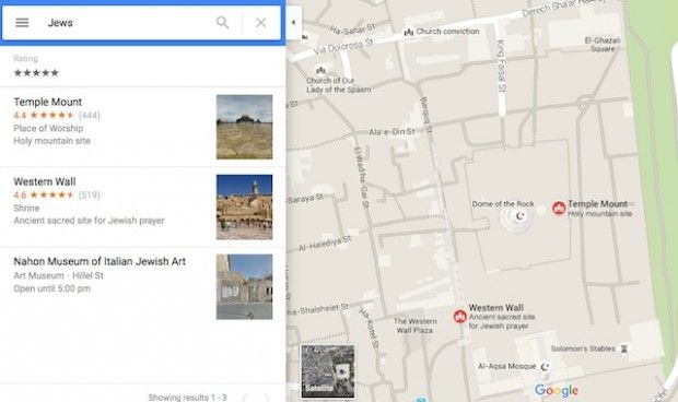 Someone Discovered Google Map Search for 'Death the Jews' Directs to Key Religious Site - http://www.theblaze.com/stories/2015/10/25/someone-discovered-google-map-search-for-death-the-jews-directs-to-key-religious-site/?utm_source=TheBlaze.com&utm_medium=rss&utm_campaign=story&utm_content=someone-discovered-google-map-search-for-death-the-jews-directs-to-key-religious-site