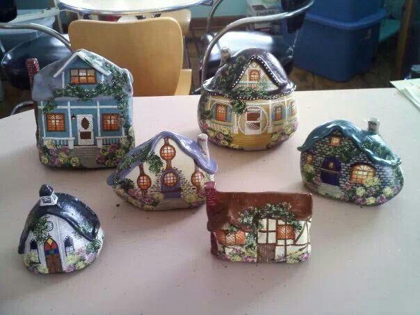 Рисуем домики на камнях. Обсуждение на LiveInternet - Российский Сервис Онлайн-Дневников