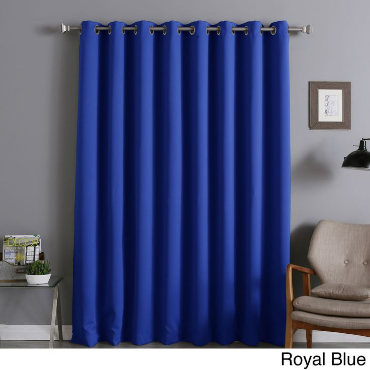 Aurora Home Extra Wide Thermal Insulated 84 Inch Blackout Curtain Panel Dark Grey Size 100 X Polyester Solid