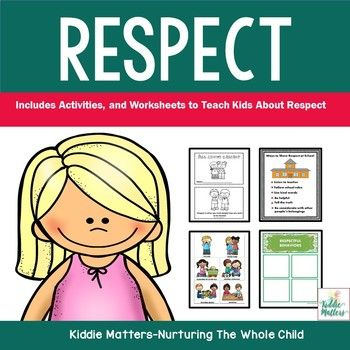 Teaching kids respect is an integral part of any character education program. It is important for children to learn how to show respect to others and to themselves. This product is designed to help students from Pre-School-2nd grade learn and practice being respectful.