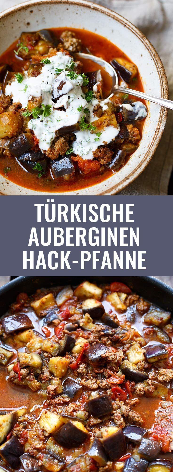 Pan de carne picada turca de berinjela