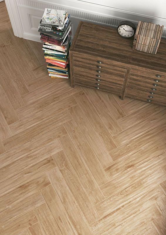 Living_Herberia_Natural Wood floortile Walnut 15x90. Soggiorno_Herberia_Natural Wood pavimento Walnut 15x90.